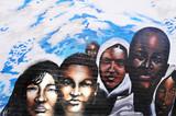 Fototapety African children graffiti