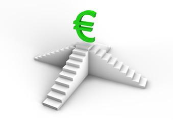 Euro on staircase