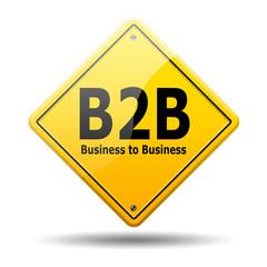Señal amarilla texto B2B