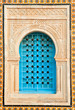 Decorated arabic style house window, Tunisia, Africa