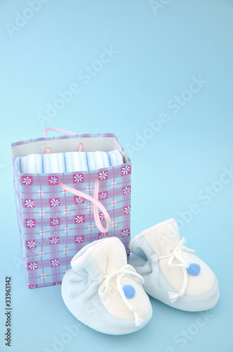 Slippers and Gift Bag