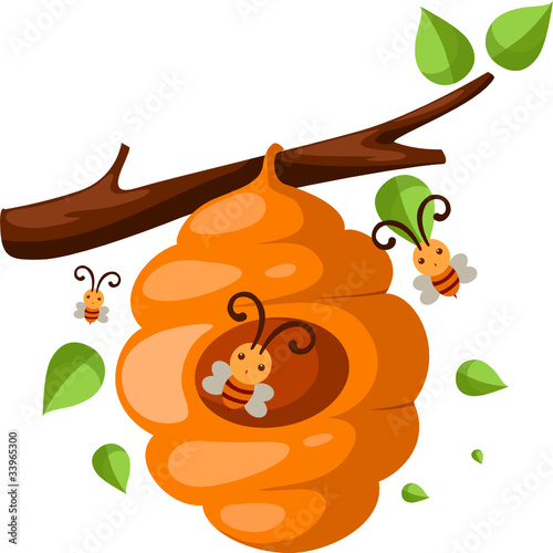 Cartoon Beehive Clipart Cartoon Bee Hive Clipart