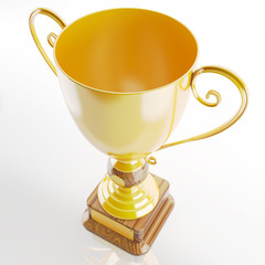 trophy in gold