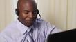 African American customer service representative