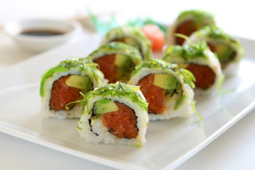 Sushi - Spicy Tuna and Avocado