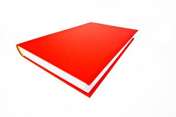 Rotes Buch auf weißem Hintergrund