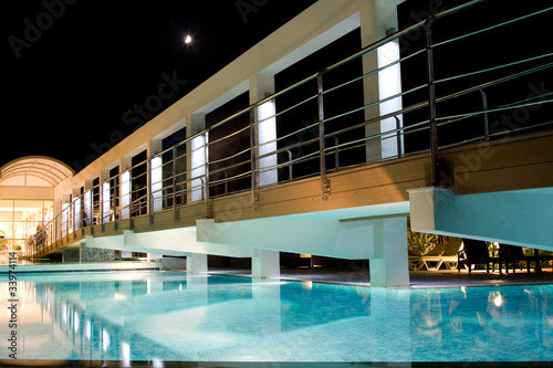 Bridge over Swimming Pool Nightscene