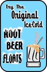 original retro root beer floats