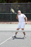 Retired Man Playing Tennis poster
