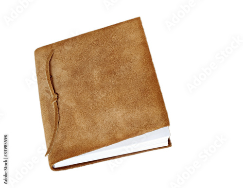 Suede Book Isolated on White