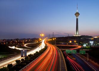 Tehran at night