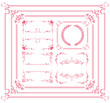 cute frame design elements set