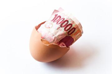 Money in egg