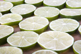Sliced Limes closeup background