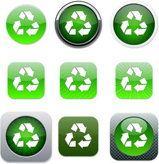 recycling green app icons.
