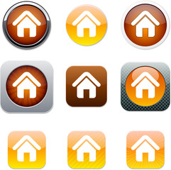 Home orange app icons.