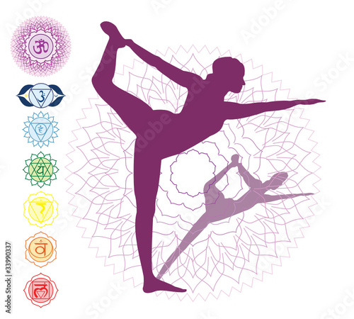 7 Chakras And An Asana