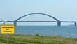 Blick auf die Fehmarnsundbrücke