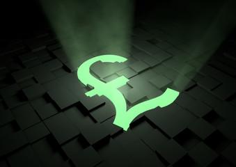 Glowing pound symbol