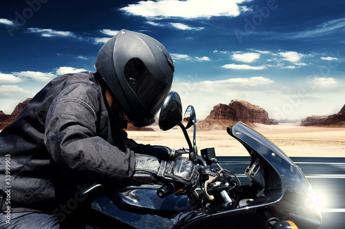 Motorbike in the Desert