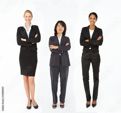 Group of mixed age and race businesswomen