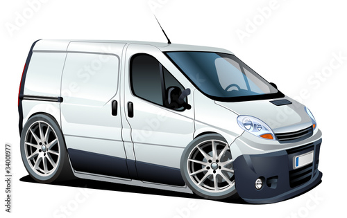 Vector cartoon delivery / cargo van
