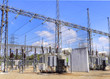 Electrical power transformer in high voltage substation