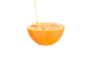 orange juice with splash