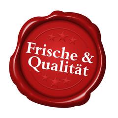 frische und qualität & button siegel logo label