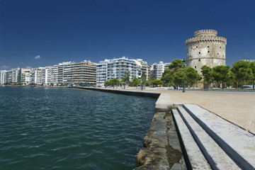 The white tower at Thessaloniki in Greece