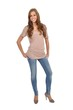 Junge Frau mit Jeans