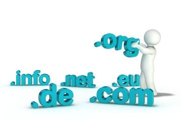 Domain .de .com .net .org .info .eu  - V2.3