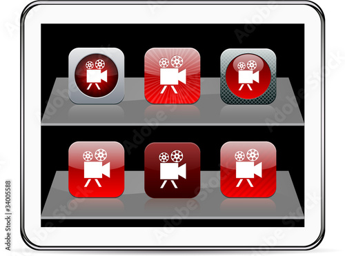 Video camera red app icons.