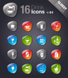 Glossy Peebles - Drink Icons