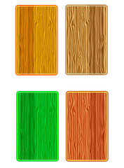 colored wooden business card set isolated