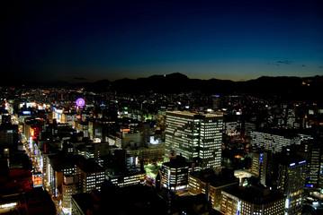 薄暮の札幌