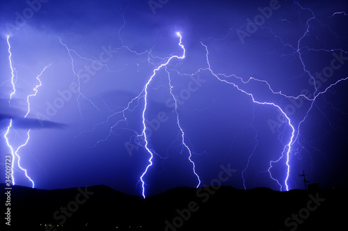 Lightnings strike
