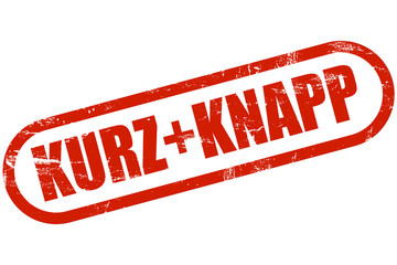 Grunge Stempel rot KURZ + KNAPP