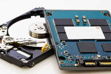 SSD vs HDD, new vs old, new technology with no mechanical elemen