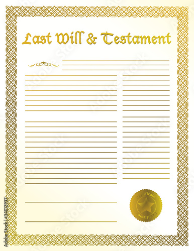 last will and testament papers