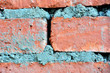 cement between red bricks