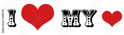 love my heart bumper sticker