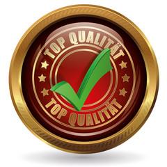Top Qualität - Button gold rot