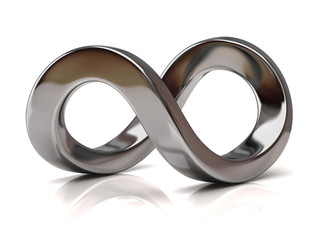 Silver Infinity Symbol