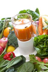 野菜ジュース作り