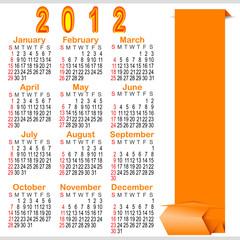 Classic calendar 2012.