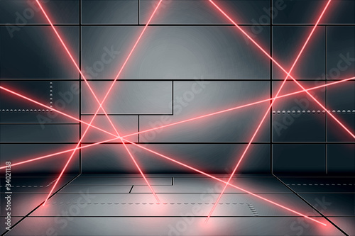 Laser Secured Room
