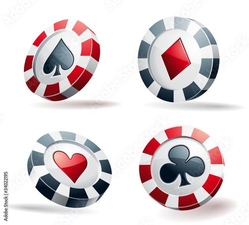 Icônes jetons de poker