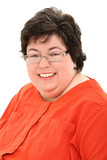 Confident and Happy Obese Woman Business Portrait