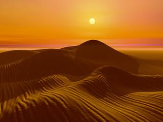 夜明けの砂漠